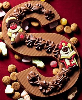 Luxe chocolade letters met decoratie for Decoratie chocolade