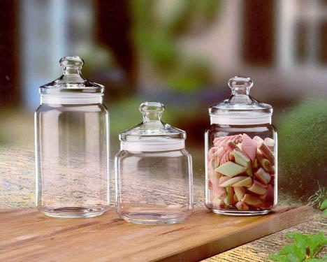 Glazen snoepbokaal